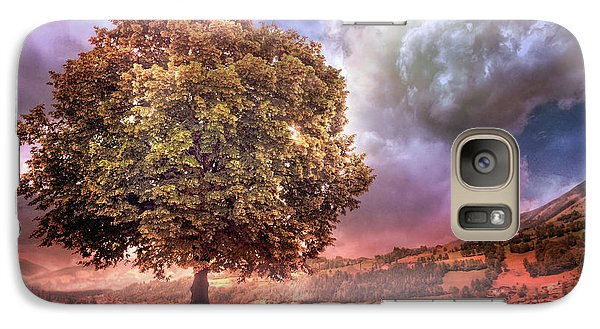 Galaxy Case featuring the photograph One Tree In The Meadow by Debra and Dave Vanderlaan