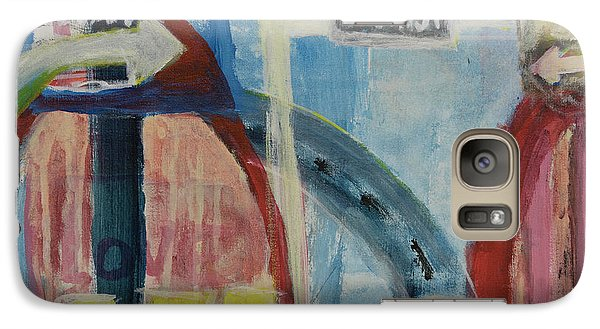 Galaxy Case featuring the painting One Way To 7th Street by Susan Stone
