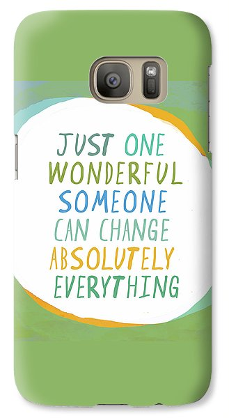 Galaxy Case featuring the painting One Wonderful Someone by Lisa Weedn