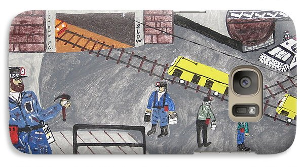 Galaxy Case featuring the painting Onieda Coal Mine by Jeffrey Koss