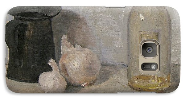 Onion And Garlic,tin Can, And Painting Medium Bottle Galaxy S7 Case