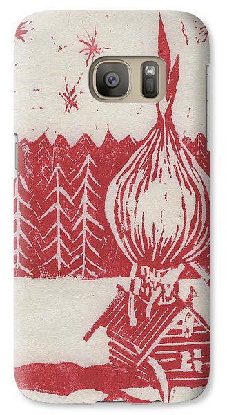 Galaxy Case featuring the mixed media Onion Dome by Alla Parsons