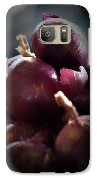 Galaxy Case featuring the photograph Onions 1 by Travis Burgess