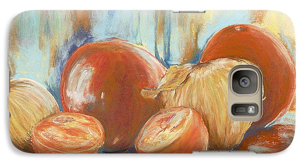 Galaxy Case featuring the painting Onions And Tomatoes by AnnaJo Vahle