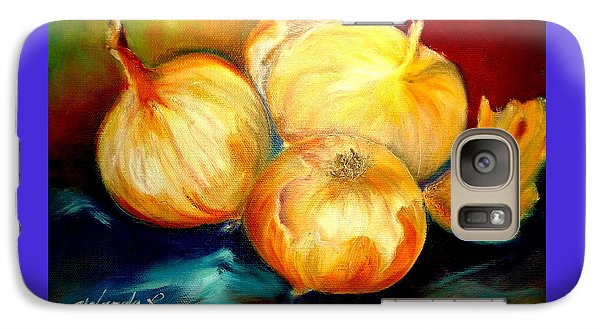 Galaxy Case featuring the painting Onions by Yolanda Rodriguez