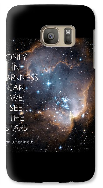 Galaxy Case featuring the digital art Only In Darkness by Lora Serra