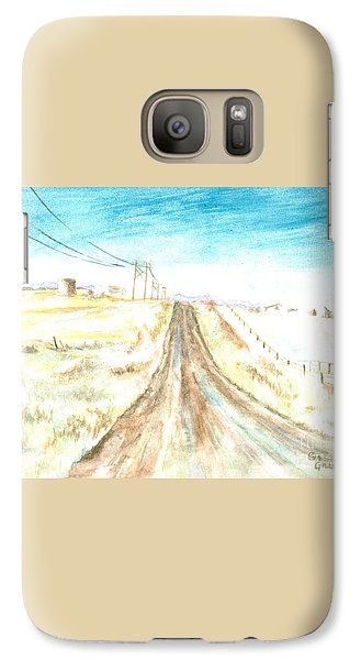 Galaxy Case featuring the painting Country Road by Andrew Gillette
