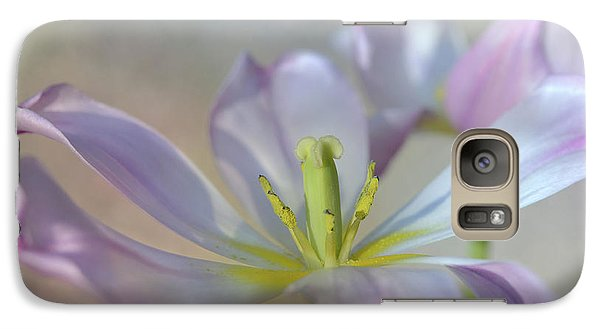 Galaxy Case featuring the photograph Open Tulip by Ann Bridges