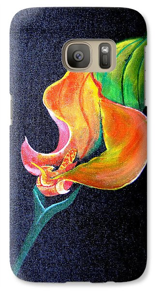 Galaxy Case featuring the painting Opening Cala Lily by Gary Smith