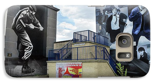 Galaxy Case featuring the photograph Operation Motorman Mural In Derry by RicardMN Photography