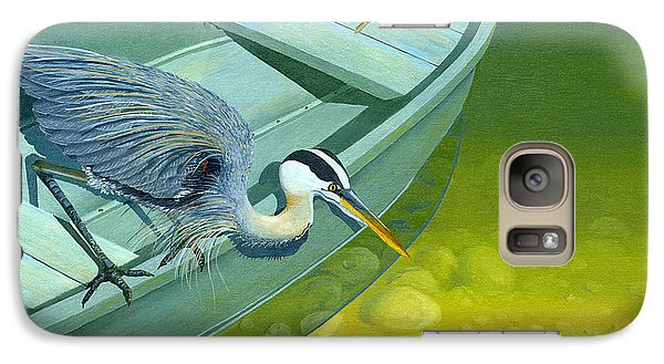 Galaxy Case featuring the painting Opportunity-the Great Blue Heron by Gary Giacomelli