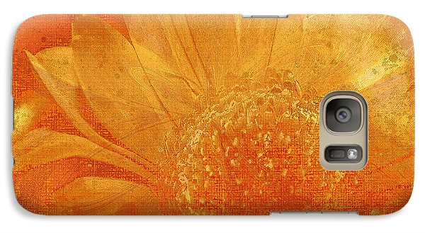 Galaxy Case featuring the digital art Orange Abstract Flower by Fine Art By Andrew David