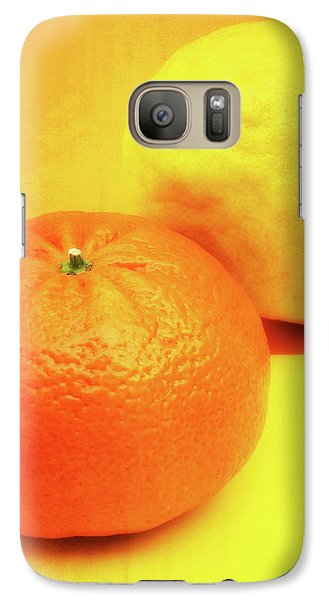 Orange And Lemon Galaxy S7 Case