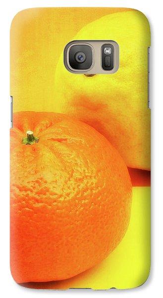 Orange And Lemon Galaxy Case by Wim Lanclus