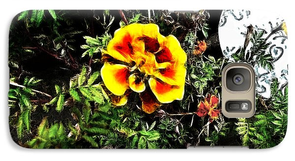 Galaxy Case featuring the photograph Orange And Yellow Flower by Joan  Minchak