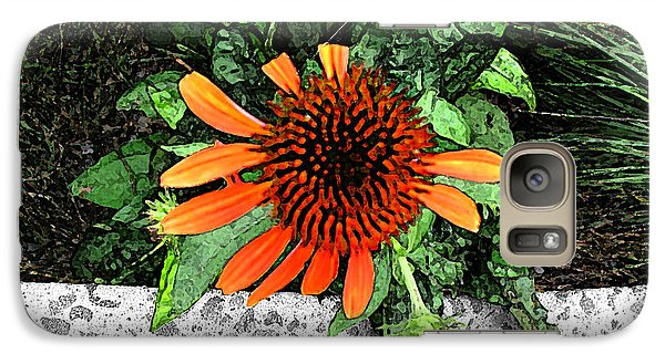 Galaxy Case featuring the photograph Orange At Highline Nyc by Joan  Minchak