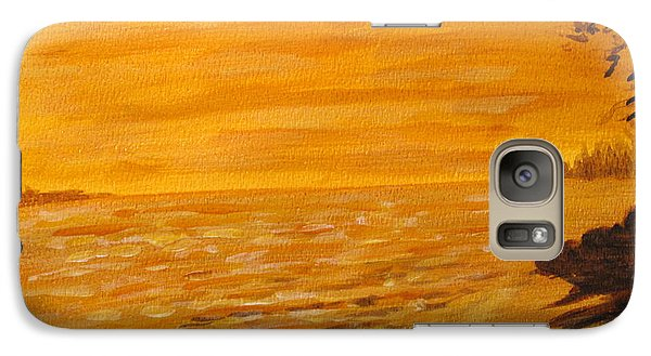 Galaxy Case featuring the painting Orange Beach by Ian  MacDonald
