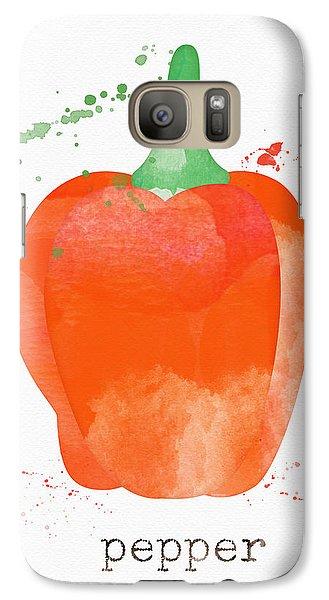 Truck Galaxy S7 Case - Orange Bell Pepper  by Linda Woods