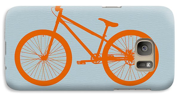 Bicycle Galaxy S7 Case - Orange Bicycle  by Naxart Studio