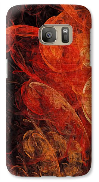 Galaxy Case featuring the digital art Orange Blossom Abstract by Andee Design