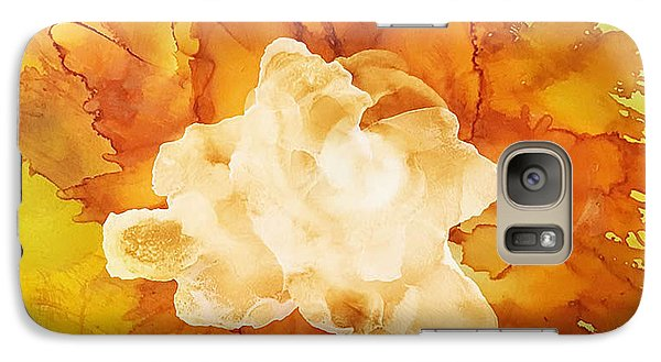 Galaxy Case featuring the painting Orange Blossom  by Suzanne Canner