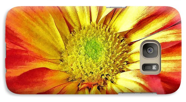 Galaxy Case featuring the photograph Orange Burst by Allen Beatty