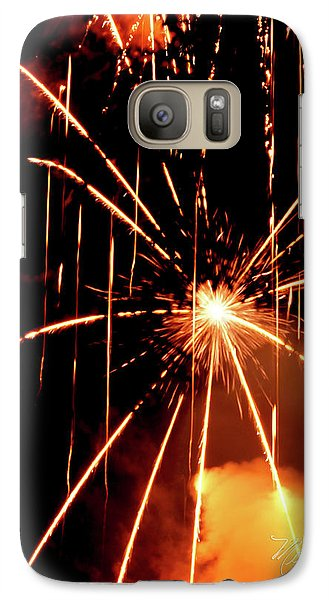 Galaxy Case featuring the photograph Orange Chetola Fireworks by Meta Gatschenberger