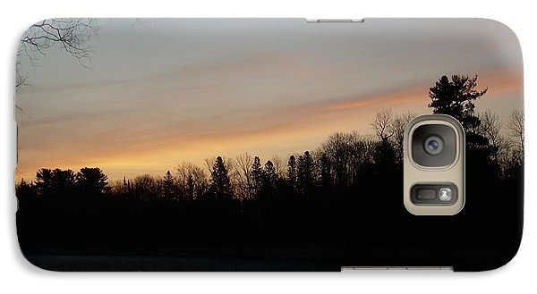 Galaxy Case featuring the photograph Orange Clouds Mississippi River Dawn by Kent Lorentzen