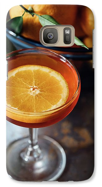Orange Cocktail Galaxy S7 Case by Happy Home Artistry