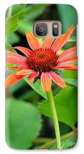 Galaxy Case featuring the photograph Orange Coneflower by Sue Melvin