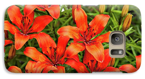 Galaxy Case featuring the photograph Orange Day Lillies by Mary Jo Allen