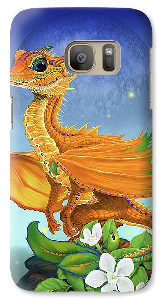 Galaxy Case featuring the digital art Orange Dragon by Stanley Morrison