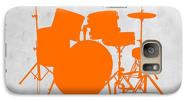 Drum Galaxy S7 Case - Orange Drum Set by Naxart Studio