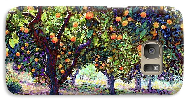 University Of Arizona Galaxy S7 Case -  Orange Grove Of Citrus Fruit Trees by Jane Small