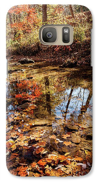 Galaxy Case featuring the photograph Orange Leaves by Iris Greenwell
