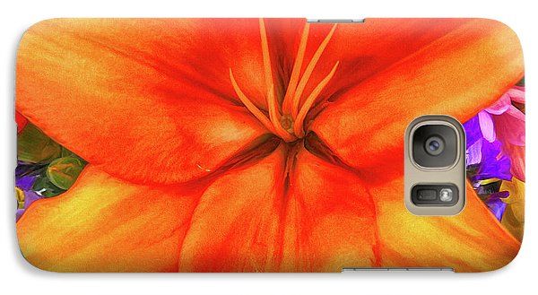 Galaxy Case featuring the painting Orange Lilly Art by Deborah Benoit