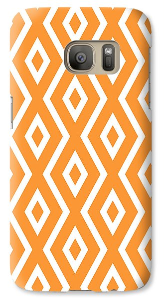 Orange Pattern Galaxy S7 Case by Christina Rollo