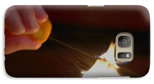 Galaxy Case featuring the photograph Orange Peel Flame Thrower. by John King