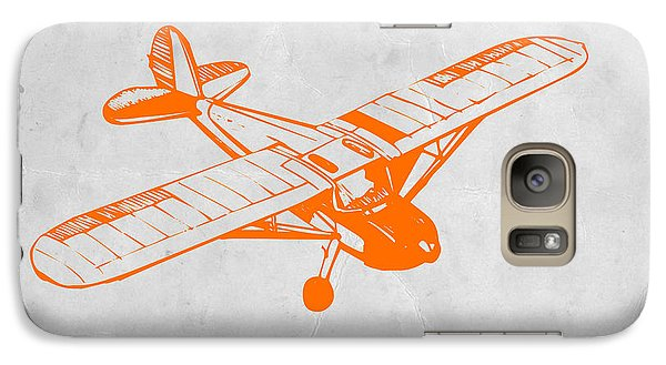 Orange Plane 2 Galaxy Case by Naxart Studio