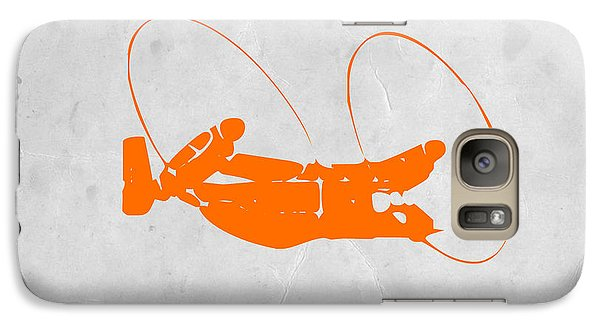 Orange Plane Galaxy S7 Case by Naxart Studio