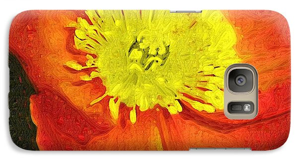 Galaxy Case featuring the photograph Orange Poppy by Donna Bentley