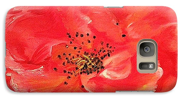 Galaxy Case featuring the painting Orange Rose by Sheron Petrie