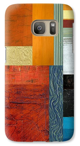 Galaxy Case featuring the painting Orange Study With Compliments 1.0 by Michelle Calkins