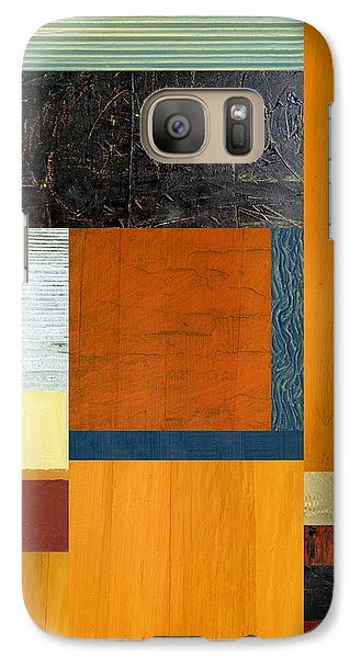 Galaxy Case featuring the painting Orange Study With Compliments 2.0 by Michelle Calkins