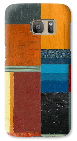 Galaxy S7 Case featuring the painting Orange Study With Compliments 3.0 by Michelle Calkins