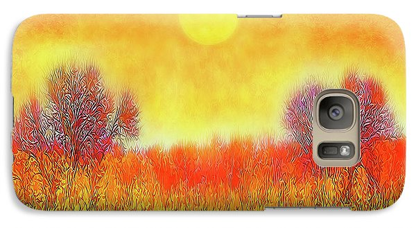 Orange Sunset Shimmer - Field In Boulder County Colorado Galaxy S7 Case