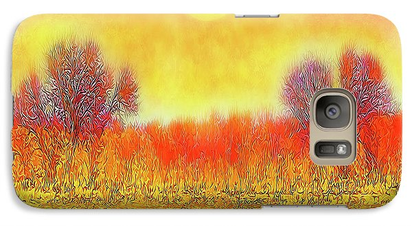 Orange Sunset Shimmer - Field In Boulder County Colorado Galaxy S7 Case by Joel Bruce Wallach