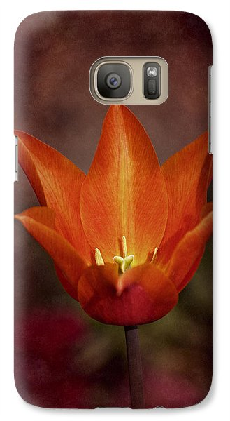 Galaxy Case featuring the photograph Orange Tulip by Richard Cummings