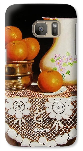 Galaxy Case featuring the painting Orange You Sweet  by Gene Gregory