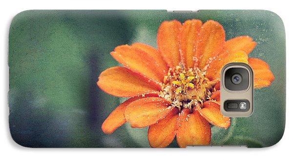 Orange Zinnia Galaxy S7 Case